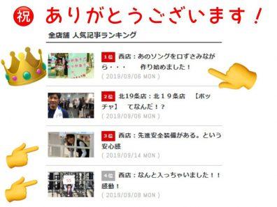 ブログランキング1位獲得♪ 感謝です!