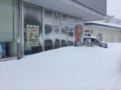 苫小牧で大雪