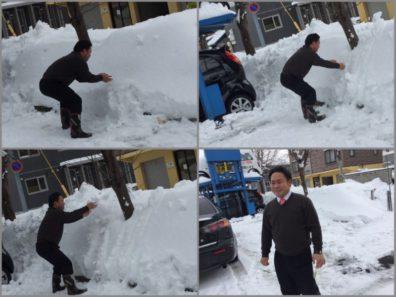 3月24日の北19条店です。朝の雪・・・・