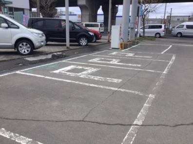 駐車場きれいになりました