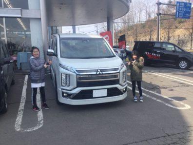 実は小樽店第一号!!3月25日新型デリカD:5納車式