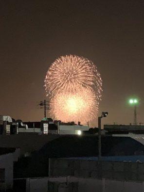 8/2の花火の写真です