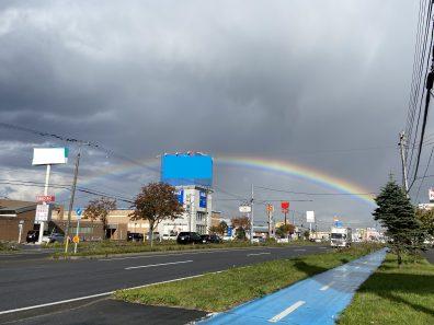 苫小牧店【中古車情報】虹が架かりました🌈