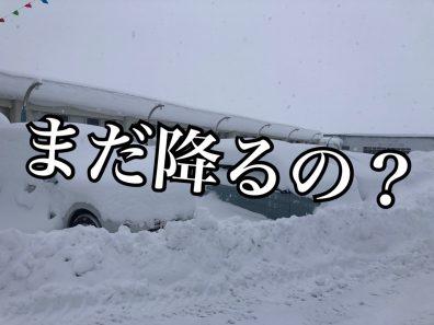 【岩見沢店】平年の3倍の積雪。